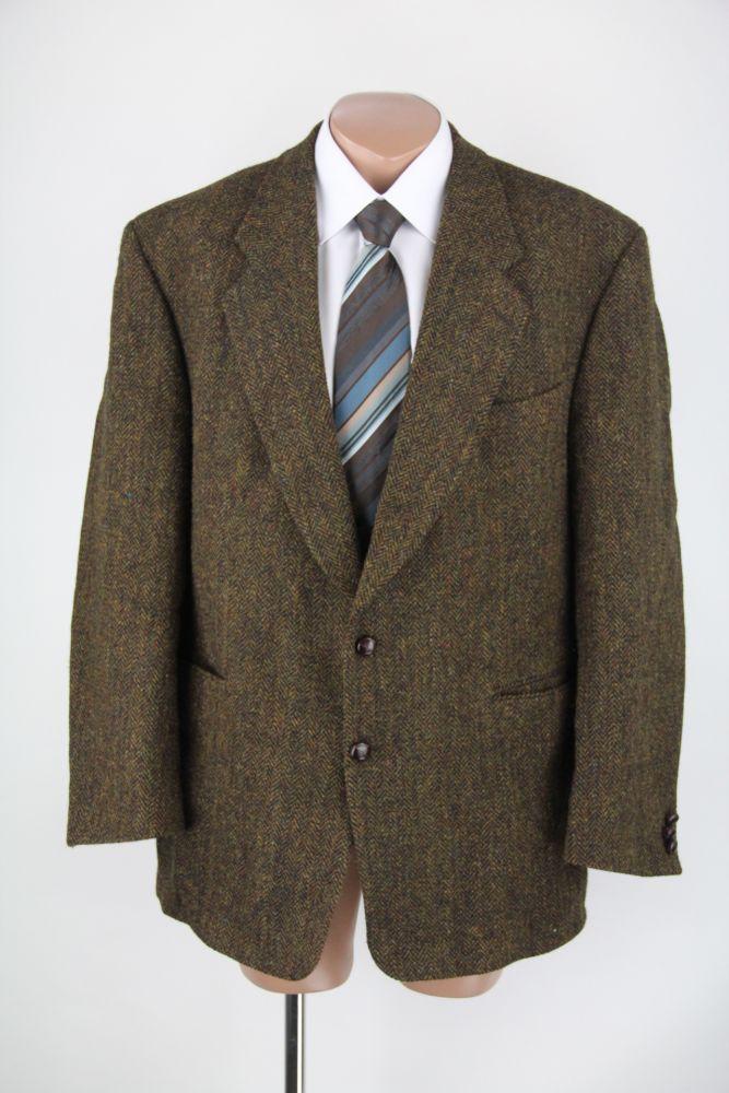 harris tweed carl gross sakko jacket lederkn pfe 58. Black Bedroom Furniture Sets. Home Design Ideas